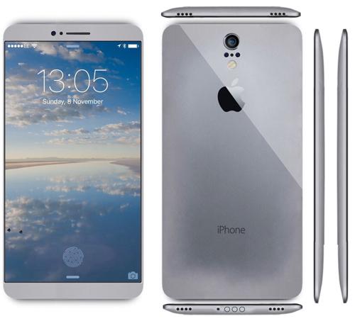 Mê mẩn với iPhone 7 concept mặt lưng cong - 1