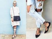 Đi tìm trang phục hợp nhất với mốt giày buộc dây