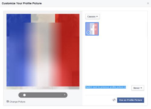 Cách làm hiệu ứng màu cờ Pháp cho avatar Facebook - 2