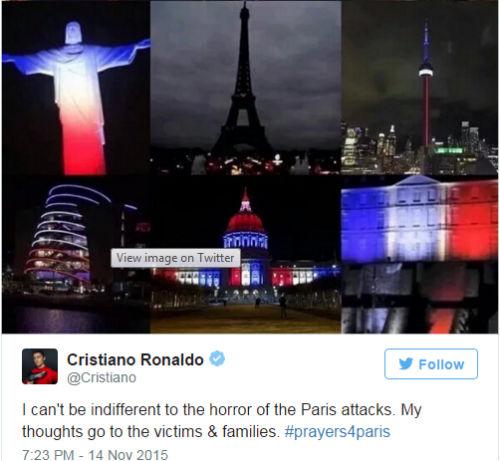 Ronaldo, Messi nói gì về vụ đánh bom khủng bố - 1
