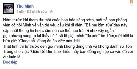 """Thu Minh bác tin đồn """"đá xéo"""" Mỹ Tâm - 2"""