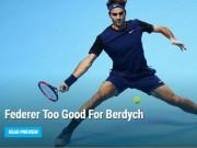Thể thao - Federer – Berdych: Chiến thư đanh thép (ATP Finals)