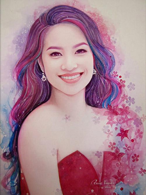 9x vẽ hoa hậu Phạm Hương đẹp lung linh - 1
