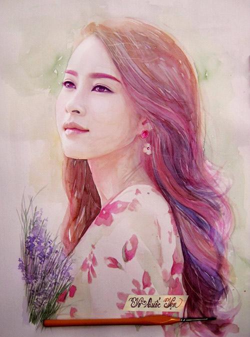 9x vẽ hoa hậu Phạm Hương đẹp lung linh - 3