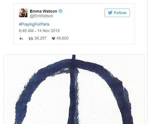 Sao thế giới chia sẻ lời cầu nguyện hòa bình cho Paris - 3