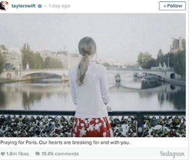 Sao thế giới chia sẻ lời cầu nguyện hòa bình cho Paris - 2