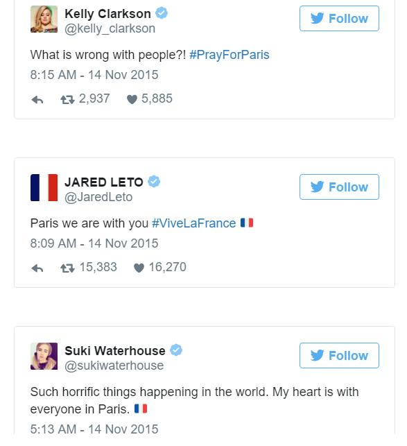 Sao thế giới chia sẻ lời cầu nguyện hòa bình cho Paris - 10