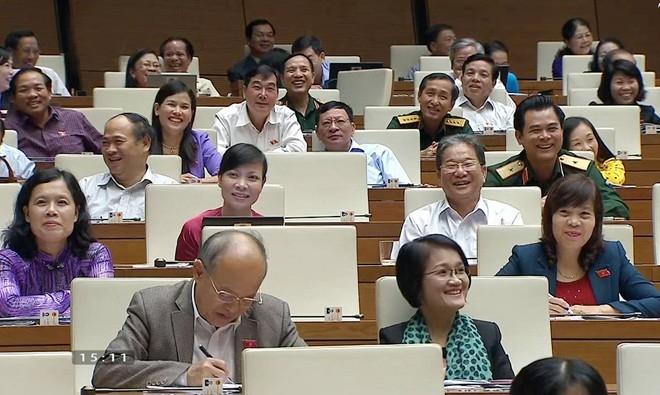 Bộ trưởng Hoàng Tuấn Anh khiến QH cười nghiêng ngả - 1