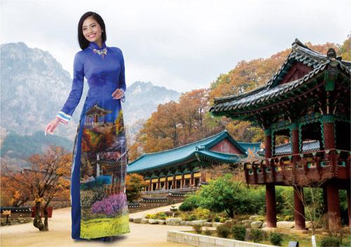 Trương Thị May rạng rỡ trong tà áo dài - 1