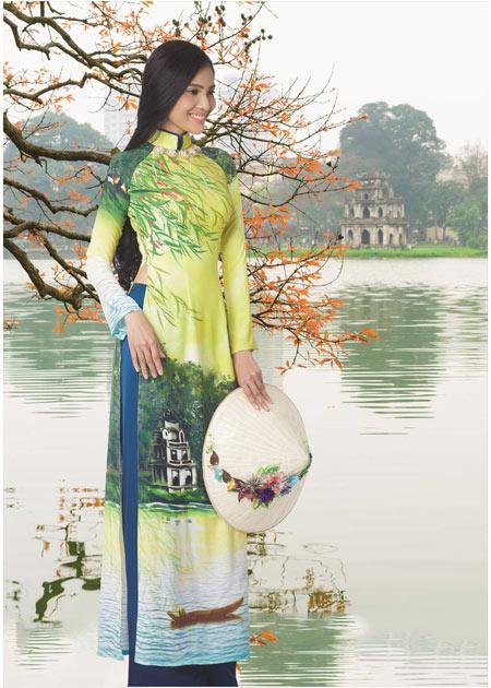 Trương Thị May rạng rỡ trong tà áo dài - 3