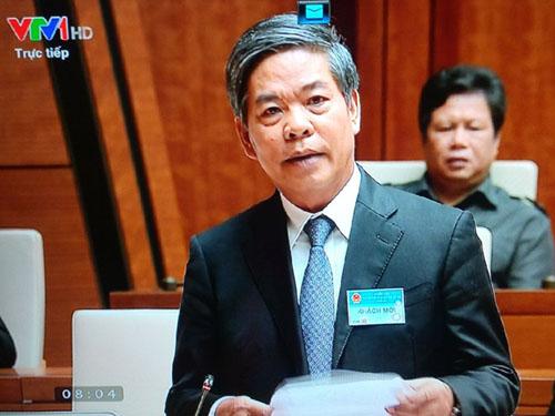 """Bộ trưởng TNMT trả lời chất vấn về """"bôi trơn sổ đỏ"""" - 1"""