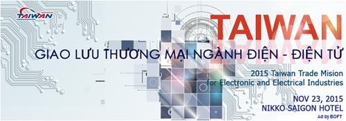Giao lưu thương mại Đài Loan – Việt Nam ngành điện – điện tử - 1