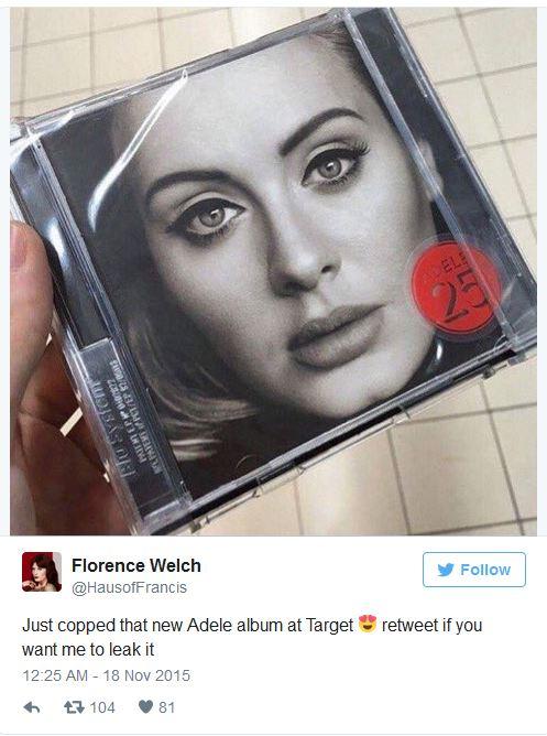 Album mới của Adele bị rò rỉ trước ngày phát hành - 2