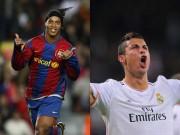 """Bóng đá - Đội hình huyền thoại El Clasico: Rô """"vẩu"""" sánh bước CR7"""