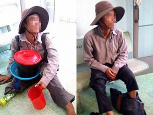 Tin tức Việt Nam - Bắt quả tang thanh niên lành lặn giả cụt chân đi ăn xin