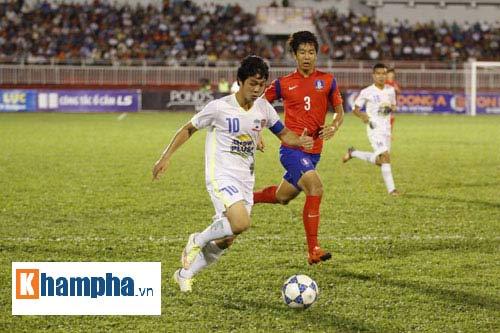 """Công Phượng """"vùng vẫy"""" trước hàng thủ U19 Hàn Quốc - 1"""