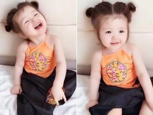 Con gái Elly Trần hóa Thị Nở cực dễ thương