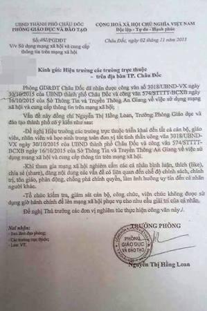 An Giang hủy văn bản cấm giáo viên bình luận trên Facebook - 2