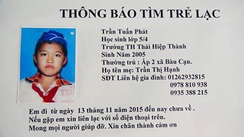 Một học sinh 10 tuổi mất tích bí ẩn - 1