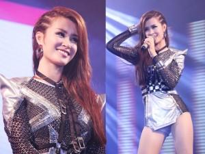 Ca nhạc - MTV - Đông Nhi mặc gợi cảm đi hát sau ồn ào trang phục