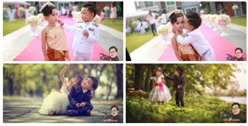 Anh em song sinh 3 tuổi cưới nhau để... giải xui - 3