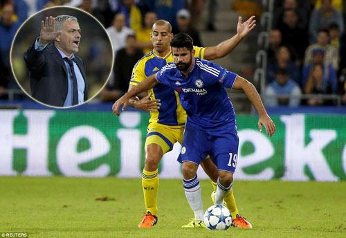 """Cãi nhau dữ dội, Mourinho hôn Costa để """"làm lành"""" - 1"""