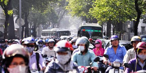 Kẹt cứng ở trung tâm Sài Gòn vì... diễn tập PCCC - 1
