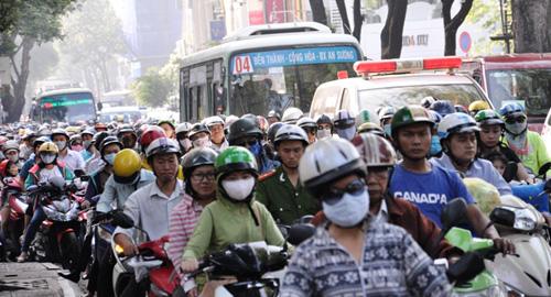 Kẹt cứng ở trung tâm Sài Gòn vì... diễn tập PCCC - 4