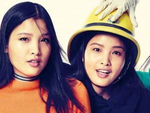 Chà Mi chụp quảng cáo cho hãng thời trang của Ý