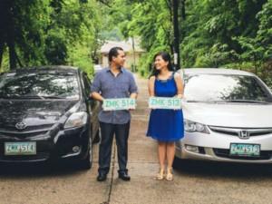 Bạn trẻ - Cuộc sống - Cặp đôi nên duyên nhờ có biển số xe gần giống nhau
