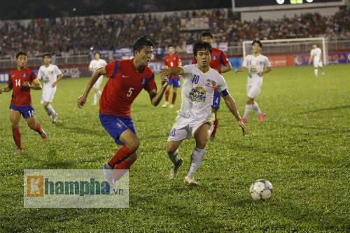 Video U21 HAGL vs U19 Han Quoc - 1