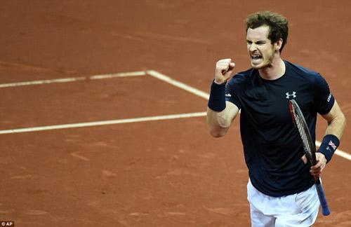 """Murray """"lên đồng"""", ĐT Anh vô địch Davis Cup - 3"""