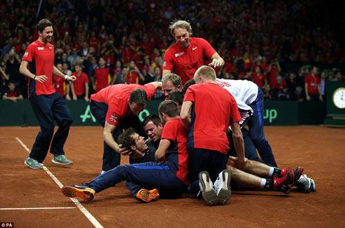 """Murray """"lên đồng"""", ĐT Anh vô địch Davis Cup - 6"""