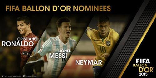 QBV FIFA 2015: Ronaldo đấu Messi & Neymar - 1