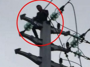 Tình yêu - Giới tính - Dại dột trèo lên cột điện sau khi cãi nhau với bạn gái