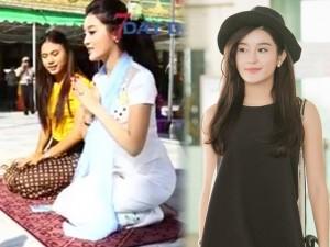 Thời trang - Huyền My xinh đẹp rạng rỡ với quốc phục Myanmar
