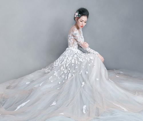 Hotgirl Joxy Thùy Linh đẹp tựa thiên thần trong bộ ảnh cưới - 12