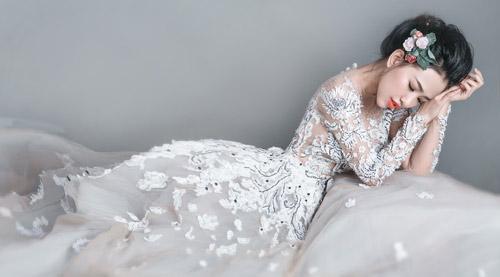 Hotgirl Joxy Thùy Linh đẹp tựa thiên thần trong bộ ảnh cưới - 14
