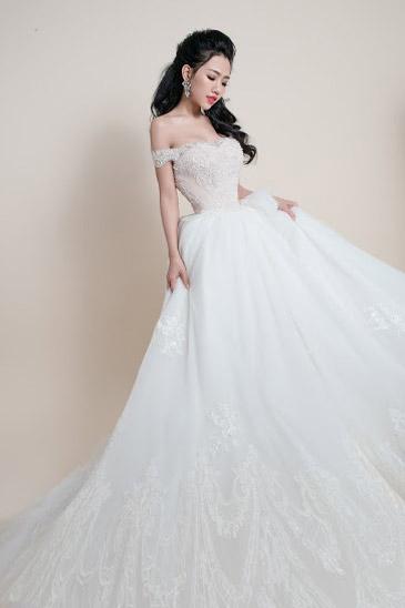 Hotgirl Joxy Thùy Linh đẹp tựa thiên thần trong bộ ảnh cưới - 3