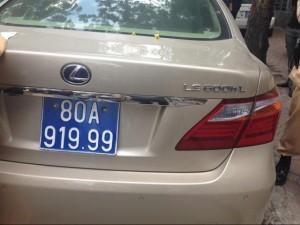 An ninh Xã hội - Biển xanh siêu đẹp gắn trên xe Lexus tiền tỷ là hàng giả