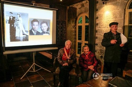 Cặp đôi tái tạo ảnh cưới nhân kỷ niệm 70 năm ngày cưới - 4