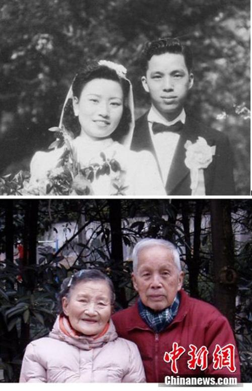 Cặp đôi tái tạo ảnh cưới nhân kỷ niệm 70 năm ngày cưới - 7