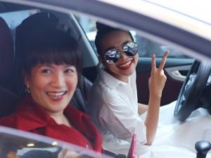Thanh Hằng hộ tống vợ Bình Minh đi sự kiện