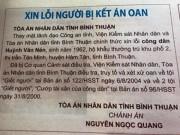"""An ninh Xã hội - Đăng báo """"xin lỗi"""" ông Huỳnh Văn Nén"""