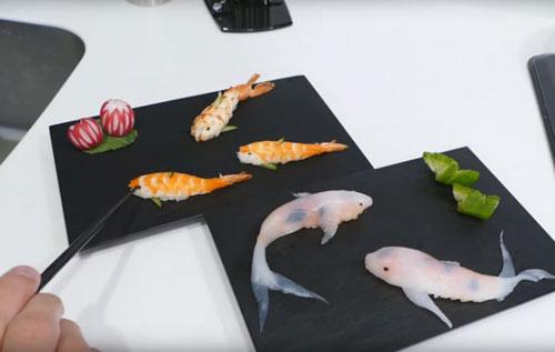 Cách làm Sushi hình con cá đánh lừa được cả mèo - 12
