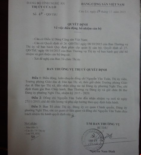Vụ trưởng phòng từ chối ghế bí thư: Sở Nội vụ Nghệ An lên tiếng - 2