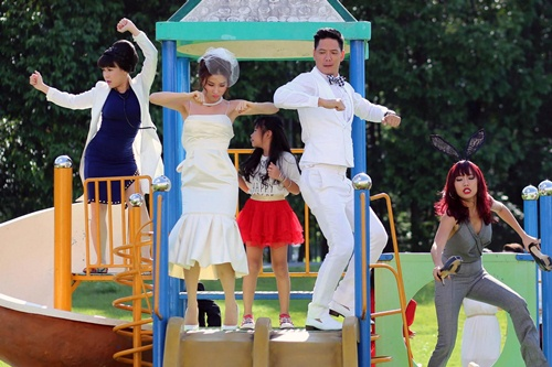 """Bình Minh, Diễm My mặc đồ cưới nhảy """"bá đạo"""" - 1"""