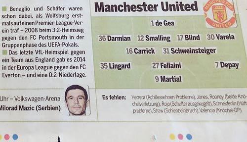 Chi tiết Wolfsburg - MU: Kết quả xứng đáng (KT) - 20