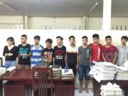 An ninh Xã hội - Nữ 13 tuổi cùng 9 nam đem hung khí đi hỗn chiến