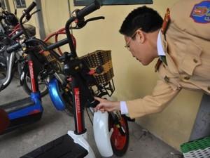 Tin tức Việt Nam - Xe máy điện không số khung, số máy đăng ký thế nào?